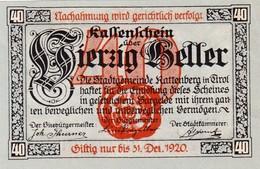 Billet Autriche - 40 Heller - Rattenberg 1920 - Oesterreich