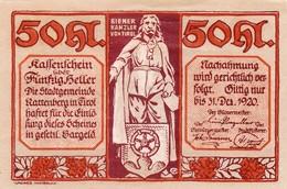 Billet Autriche - 50 Heller - Rattenberg 1920 - Oesterreich