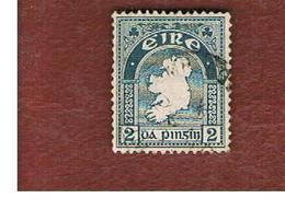 IRLANDA (IRELAND) -  SG 74 -  1922  MAP  2    WATERMARK SE  - USED - 1922-37 Stato Libero D'Irlanda