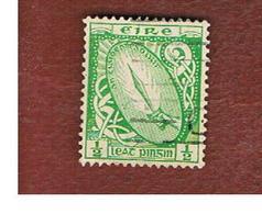 IRLANDA (IRELAND) -  SG 71  -  1923  SWORD OF LIGHT  1/2   WATERMARK SE  - USED - Usati