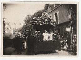 PHOTO - ANTRAIN - FETE DE L'ASCENSION 1936 - DEFILE CHARS FLEURIS -  35 - Lieux
