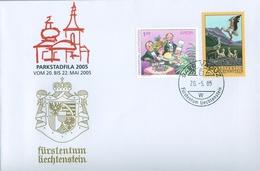 2005 , LIECHTENSTEIN , VADUZ , TEMA EUROPA , AVES , CIGÜEÑAS - Briefe U. Dokumente