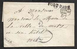 1826 - LSC - PARIS A METZ - PORT PAYÉ - 60/P.P/.B A Maire De Metz - 1801-1848: Précurseurs XIX