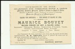 39 - Jura - Salins Les Bains - Carte /avis De Passage - Maurice Bouvet - Commerces De Bois - - France