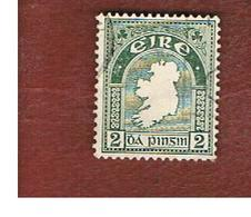 IRLANDA (IRELAND) -  SG 114  -  1940  MAP WATERMARK E    - USED - 1937-1949 Éire