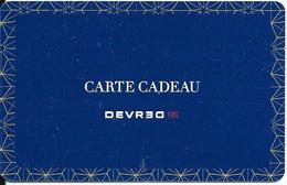 Carte Cadeau - Devred -   GIFT CARD /GESCHENKKARTE - Cartes Cadeaux