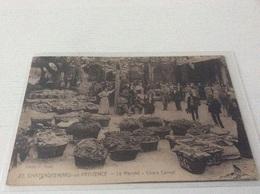 § RARE § 13 - CHATEAURENARD Le Marché Cours Carnot Animée écrite Timbrée - Chateaurenard