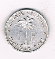 1 FRANC 1957  BELGISCH CONGO /1831/ - 1951-1960: Baudouin I