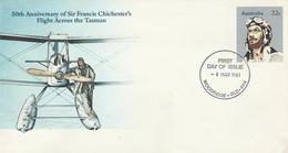 Australia 1981 Postal Stationery - 50 Anniversary Of Flight Across The Tasman - Postal Stationery