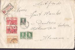 Argentina Registered Certificado Label BUENOS AIRES 1931 Cover Letra BAUTZEN Sachsen Germany M. Aufdruck (5 Scans) - Argentina