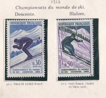 Timbre    Timbre Y T NUMERO 1326 ET 1327 - France