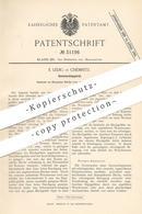 Original Patent - E. Ledig , Chemnitz , 1884 , Gaswaschapparat | Gas Waschen | Gas , Gasrohr , Licht , Brenner !!! - Historische Dokumente