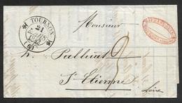 1843 - LAC - C.à.d TOURNON Type 12 - Lettre Commerciale - 1801-1848: Précurseurs XIX