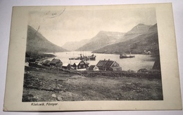 "Faroe Islands ""KLAKSVIK FÖROYAR"" Rare Picture Postcard Used THORSHAVN 1932 (Denmark Ppc Ak Färöer Cp Cover Brief - Féroé (Iles)"