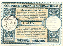 Coupon-réponse Tchécoslovaquie Ceskolovensko Modèle Lo14 - 5 Kcs Corrigé 6 - Cesky Tesin 1948 - IRC IAS CRI - Cartoline Postali