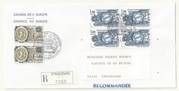 THEME EUROPE CONSEIL DE L'EUROPE PREMIER JOUR 24/04/1982  SUR LETTRE RECOMMANDEE - Cachets Commémoratifs