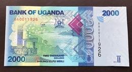 UGANDA P50 2000 SHILINGS 2010 UNC - Uganda