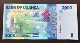 UGANDA P50 2000 SHILINGS 2010 UNC - Ouganda