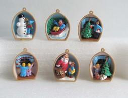 Kinder 1997 : Série Complète Allemande : Weihnachtsmotive (6 Figurines Avec 1 BPZ) - Lots