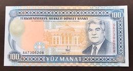 TURKMENISTAN P6A 100 MANAT 1993 UNC - Turkménistan