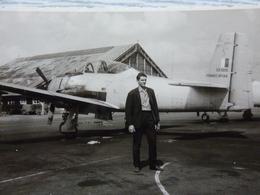 Avion Militaire à Hélice, Fennec N°144 Avec Moi, Photo Prise En 1964 - Aviation