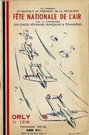 Programme Orly 1950 Fete De L'air Meeting Aerien Aerienne - Programmes
