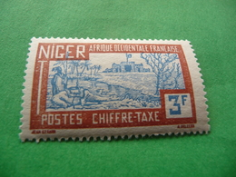 TIMBRE   NIGER   TAXE   N  21    COTE  2,00   EUROS   NEUF  TRACE  CHARNIÈRE - Niger (1921-1944)