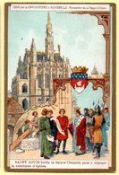 Chromo Chocolat D'Aiguebelle : Saint Louis Fonde La Sainte Chapelle. - Aiguebelle
