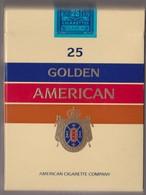 25 GOLDEN AMERICAN-  Empty Cigarettes Carton Box - Around 1970 - Empty Cigarettes Boxes