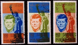 1964 SHARJAH Michel 107-9 Kennedy Oblitérés - Sharjah