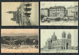 MARSIGLIA-MARSEILLE-LOTTO QUATTRO CARTOLINE 1902/1906 (8/03) - Marsiglia