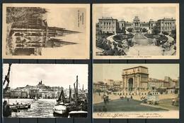MARSIGLIA -MARSEILLE-LOTTO 4 CARTOLINE VIAGGIATE FORMATO PICCOLO  (8/23) - Marseille