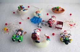 Kinder 2002 : Série Complète : Les Décorations De Noël (7 Figurines) - Lots