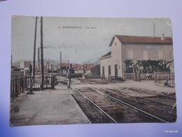 DOMBASLE-La Gare-Carte Couleur - France