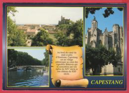 CPM*34- CAPESTANG - Multivues - Parchemin ** SUP *2 SCANS - Capestang