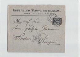 8923 SOCIETA ITALIANA FERROVIA DELLA VALSUGANA ROMA X VENEZIA - Storia Postale