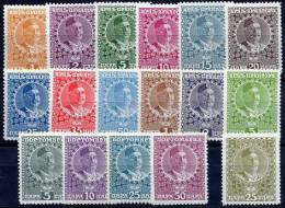 MONTENEGRO 1913 Definitive Set + AR Stamp And Postage Dues LHM / * - Montenegro