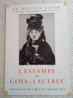 AFFICHE ANCIENNE ORIGINALE EXPOSITION L' ESTAMPE DE GOYA A LAUTREC 1971 Portrait De Berthe Morisot Par Manet - Affiches