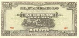 1.000 DOLLARS 1945 OCCUPATIO JAPONAISE - Malaysie