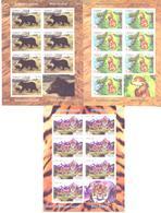 2013. Tajikistan, Wild Animals Of Asia, 3 Sheetlets IMPERFORATED, Mint/** - Tadschikistan