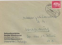 LETTRE. DEUTSCHES REICH. 1941. BAHNPOST STRASSBURG-MOLSHEIM-SCHLESTTADT - Allemagne