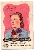 Carte Publicitaire Pour La Crème Simon M.A.T. Illustration De Ray Bret-Koch. - Beauty Products