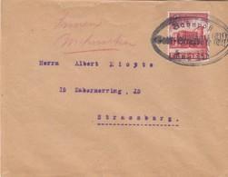LETTRE. DEUTSCHES REICH. BAHNPOST SAAL-STRASSBURG ZUG 373 - Allemagne