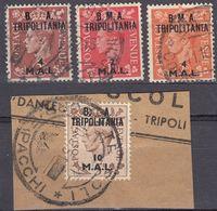 TRIPOLITANIA Amministrazione Civile E Militare Britannica - Lotto Di 4 Valori Usati Assortiti. - Südwestafrika (1923-1990)
