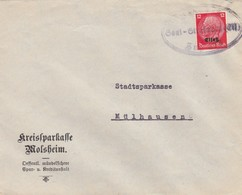 LETTRE. DEUTSCHES REICH.  BAHNPOST SAAL-STRASSBURG. ZUG 373 - Allemagne