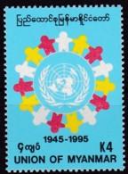 Myanmar, 1995, 327, 50 Jahre Vereinten Nationen (UNO). MNH ** - Myanmar (Burma 1948-...)