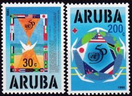 Aruba, 1995, 154/55, 50 Jahre Vereinten Nationen (UNO). MNH ** - Curaçao, Antille Olandesi, Aruba