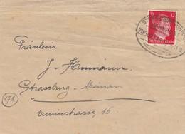 LETTRE. DEUTSCHES REICH.  1944. BAHNPOST STRASSBURG-WINGEN  ZUG 2118 - Allemagne