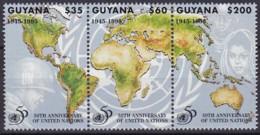 Guyana, 1995, 5227/29, 50 Jahre Vereinten Nationen (UNO). MNH ** - Guyana (1966-...)