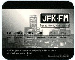 Nederland. JFK-FM. Jazzy Funky Kool Radio. Place. Brabant. Utrecht. Den Bosch. N. Holland. Zeeland. Netherlands Pays-Bas - Bierviltjes